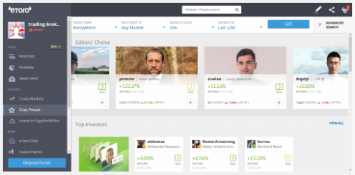 eToro Copy People